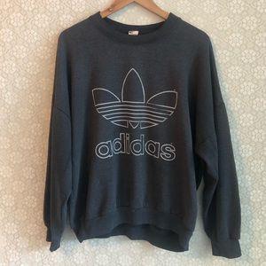 VINTAGE ADIDAS   Oversized Sweatshirt   Medium